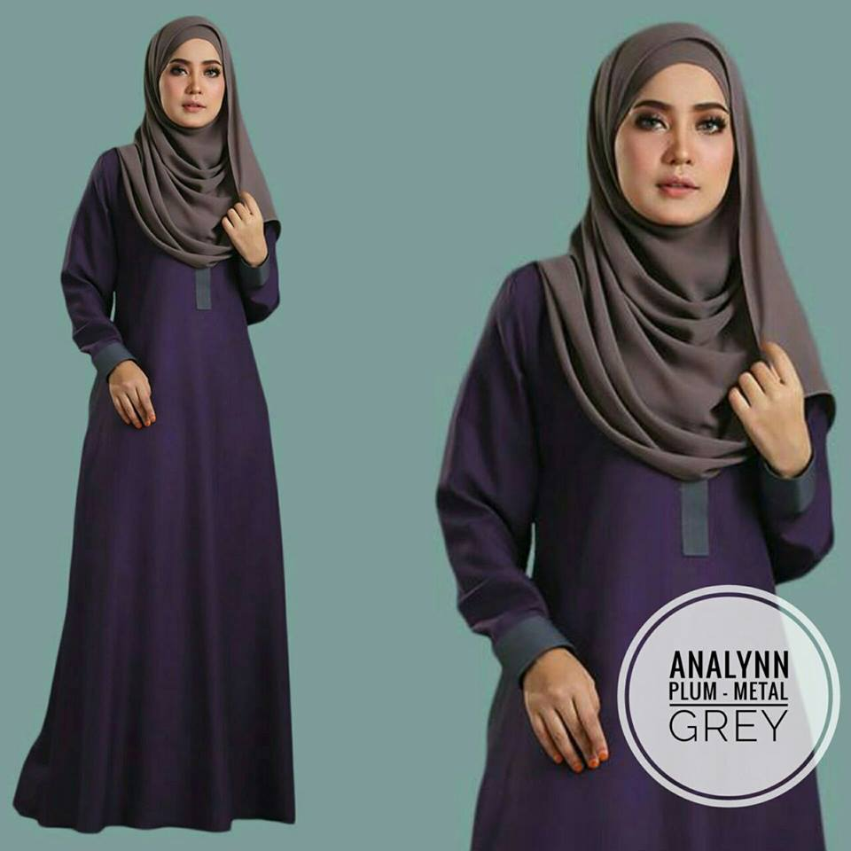 JUBAH ANALYNN PLUM GREY