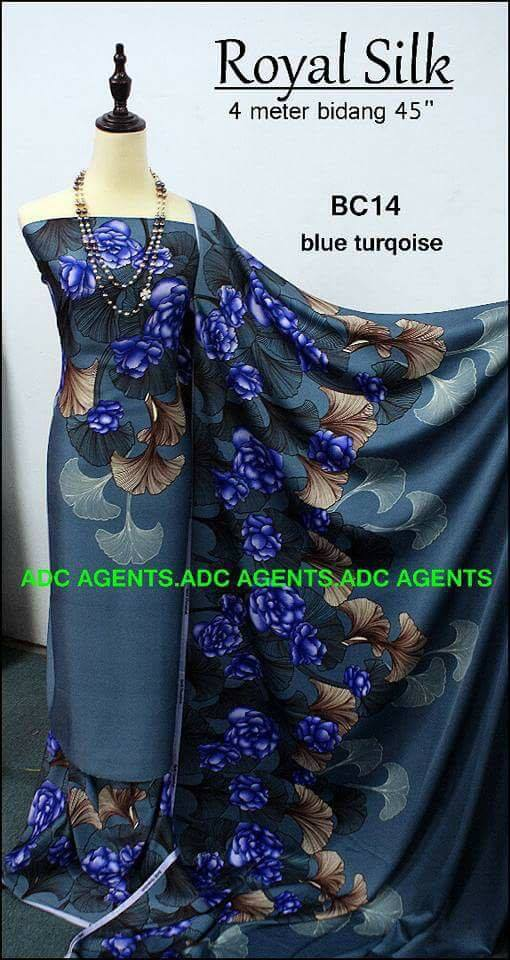 KAIN PASANG ROYAL SILK BATCH II BLUE TURKOIS