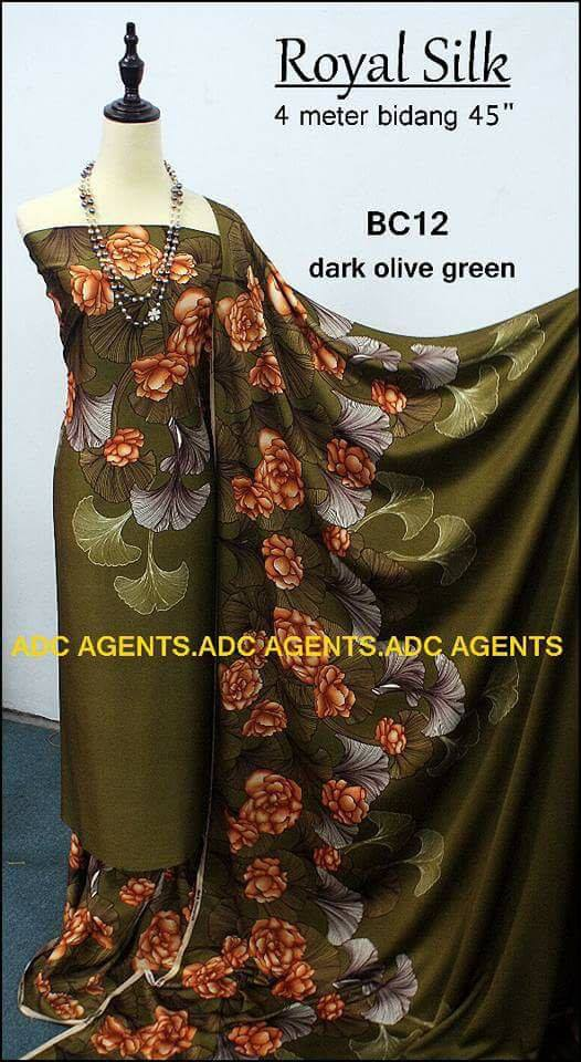 KAIN PASANG ROYAL SILK BATCH II DARK OLIVE