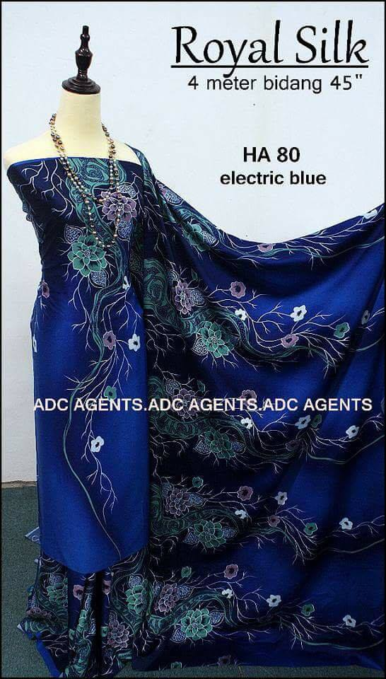 KAIN PASANG ROYAL SILK BATCH II ELECTRIC BLUE