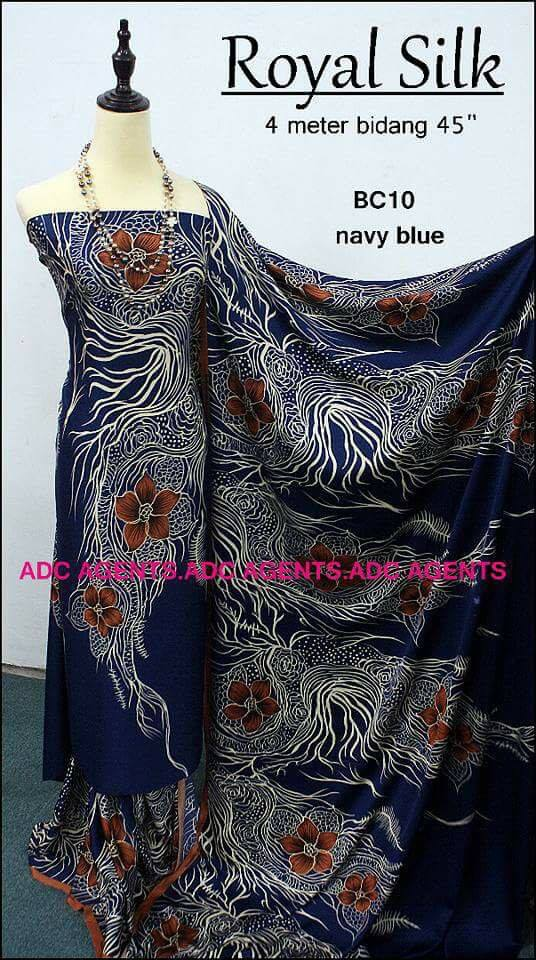 KAIN PASANG ROYAL SILK BATCH II NAVY BLUE