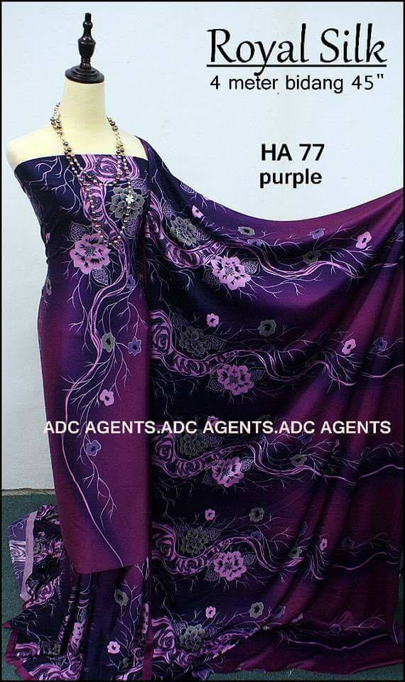 KAIN PASANG ROYAL SILK BATCH II PURPLE