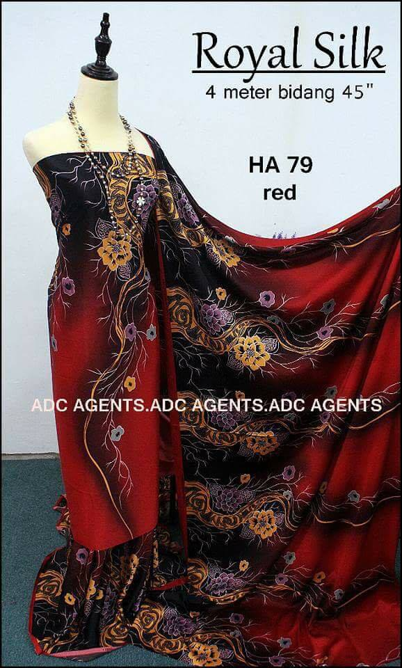 KAIN PASANG ROYAL SILK BATCH II RED