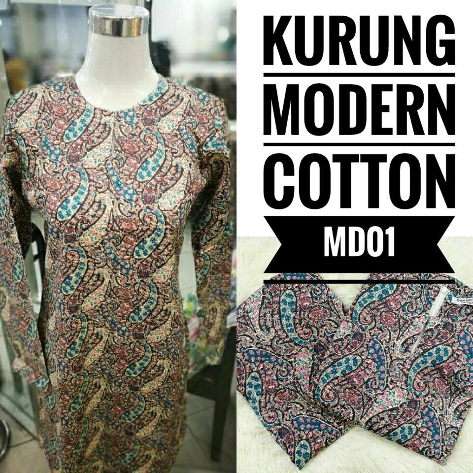 KURUNG MODEN ENGLISH COTTON KOD MD01