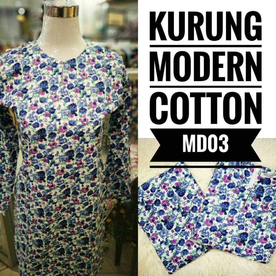 KURUNG MODEN ENGLISH COTTON KOD MD03
