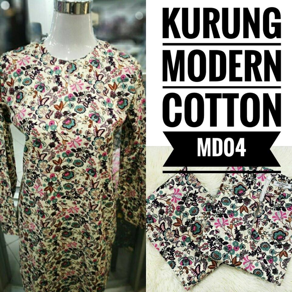 KURUNG MODEN ENGLISH COTTON KOD MD04