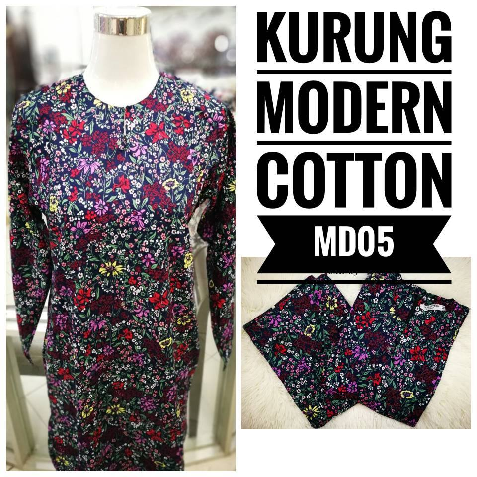 KURUNG MODEN ENGLISH COTTON KOD MD05