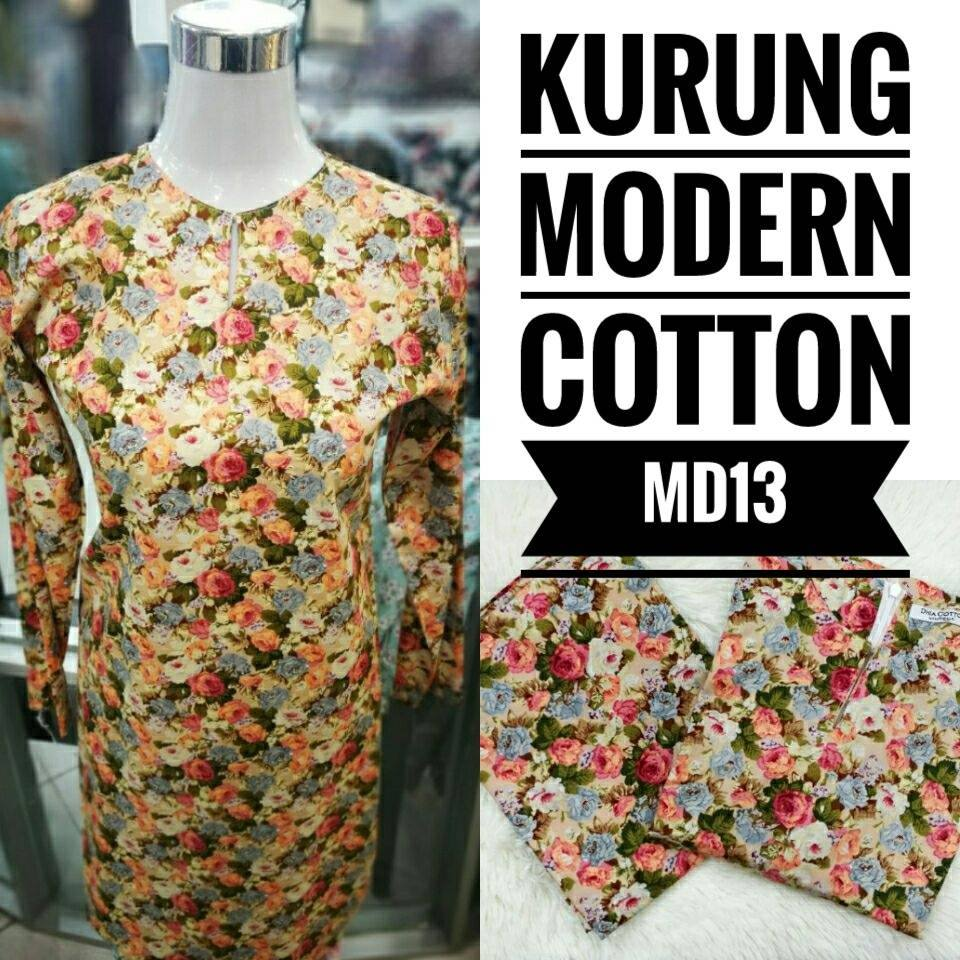 KURUNG MODEN ENGLISH COTTON KOD MD13
