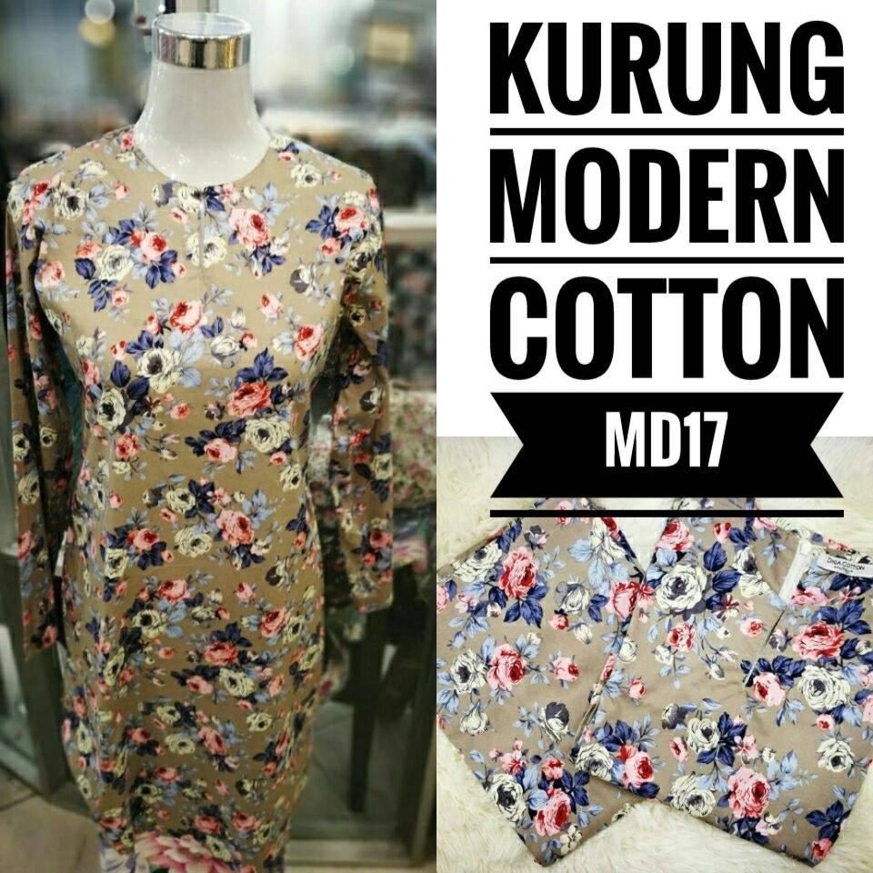 KURUNG MODEN ENGLISH COTTON KOD MD17