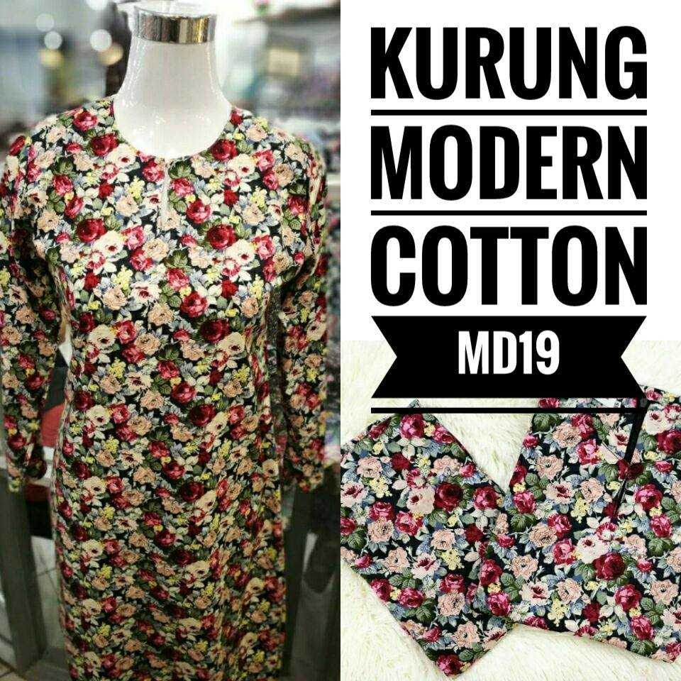 KURUNG MODEN ENGLISH COTTON KOD MD19