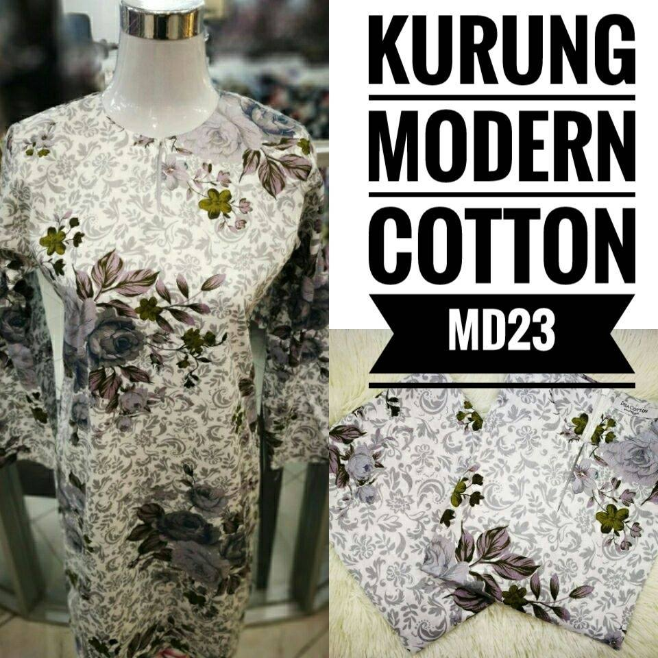KURUNG MODEN ENGLISH COTTON KOD MD23