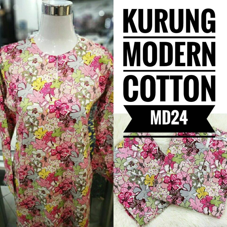 KURUNG MODEN ENGLISH COTTON KOD MD24