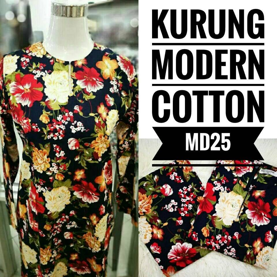 KURUNG MODEN ENGLISH COTTON KOD MD25