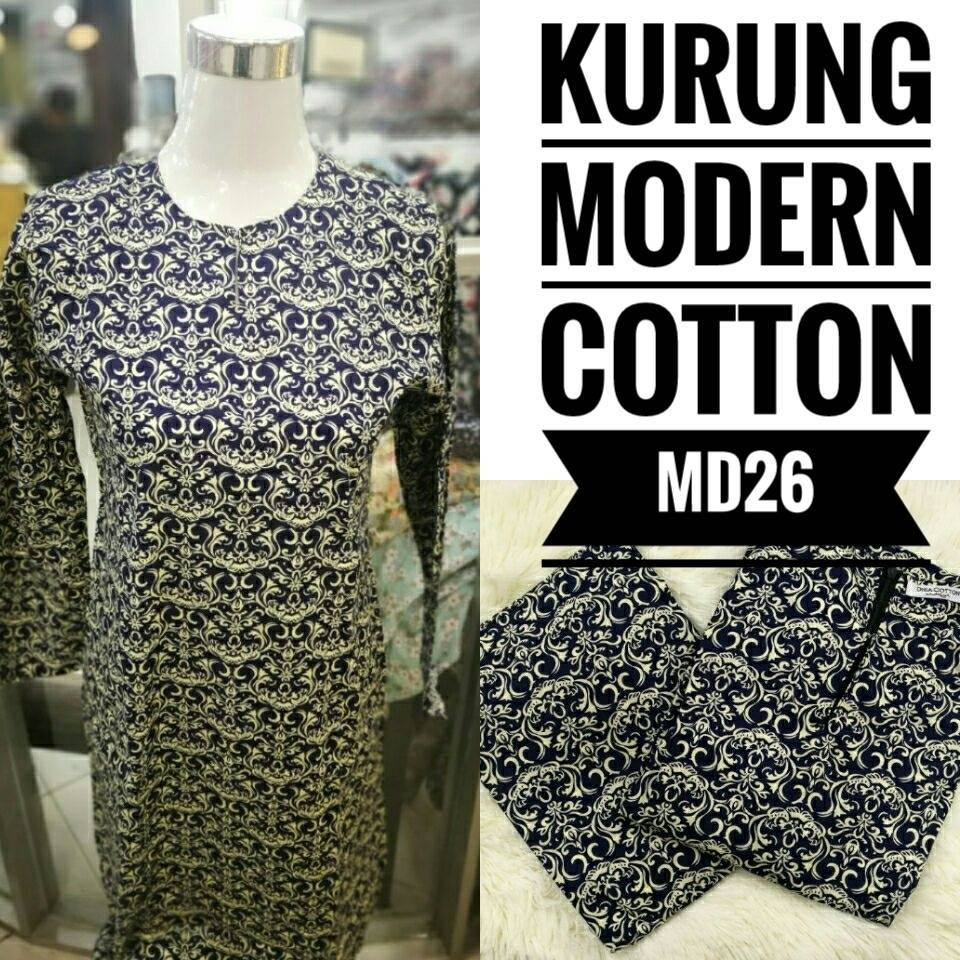 KURUNG MODEN ENGLISH COTTON KOD MD26