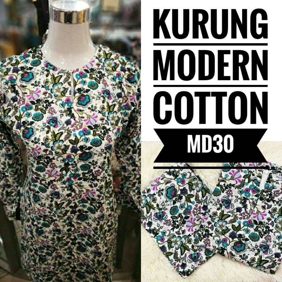 KURUNG MODEN ENGLISH COTTON KOD MD30
