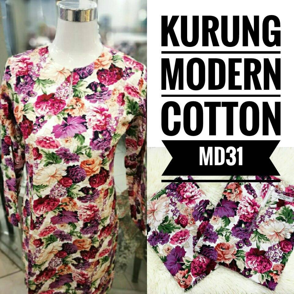 KURUNG MODEN ENGLISH COTTON KOD MD31