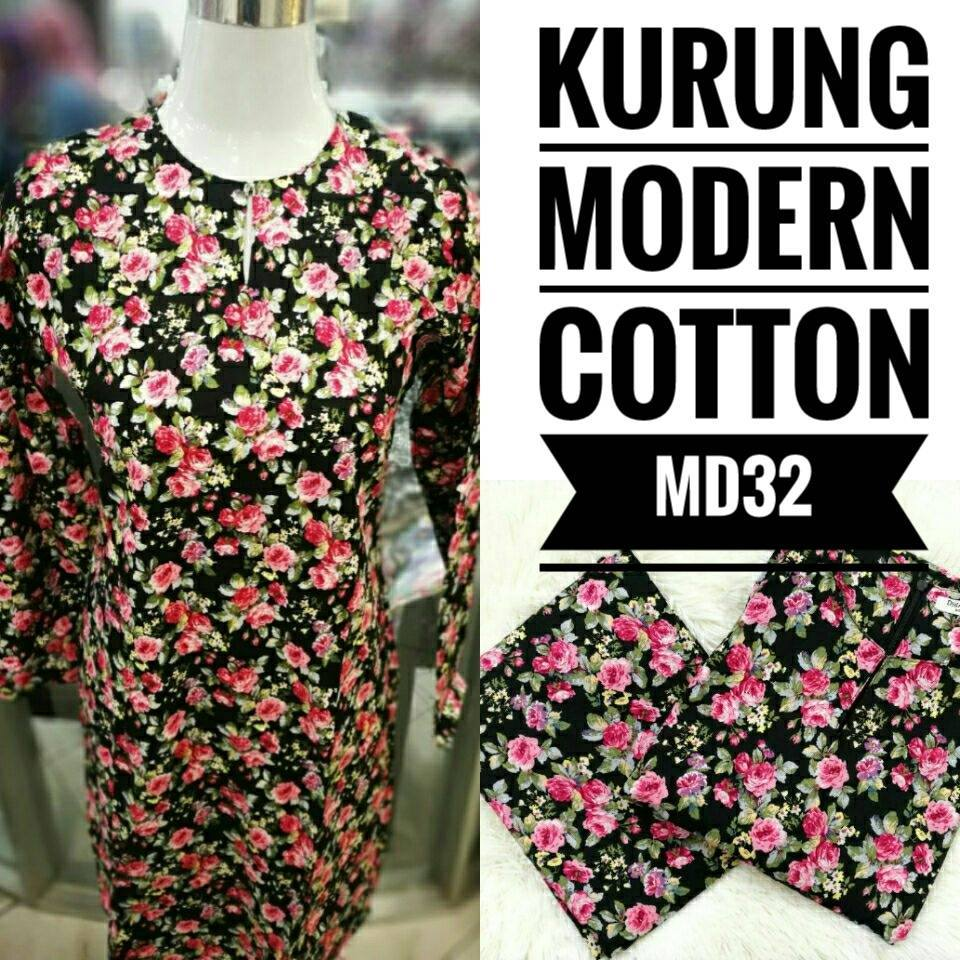 KURUNG MODEN ENGLISH COTTON KOD MD32