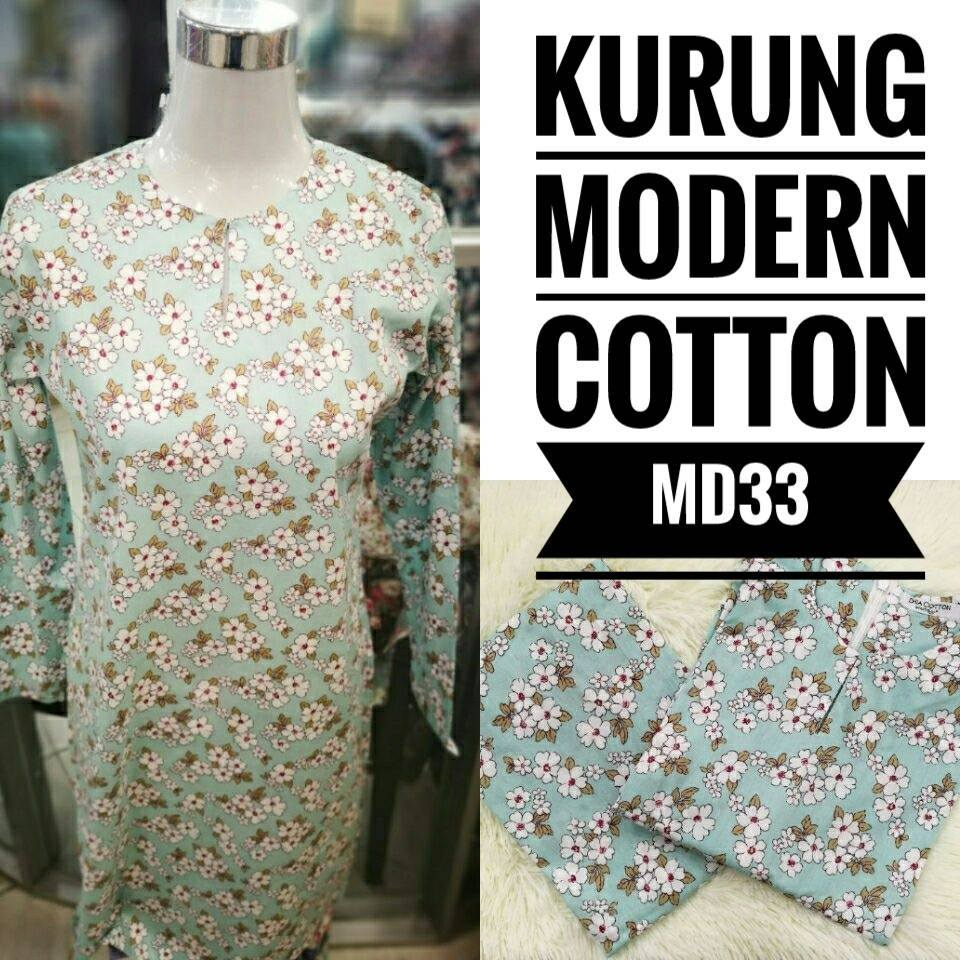 KURUNG MODEN ENGLISH COTTON KOD MD33
