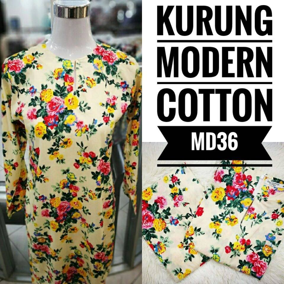 KURUNG MODEN ENGLISH COTTON KOD MD36