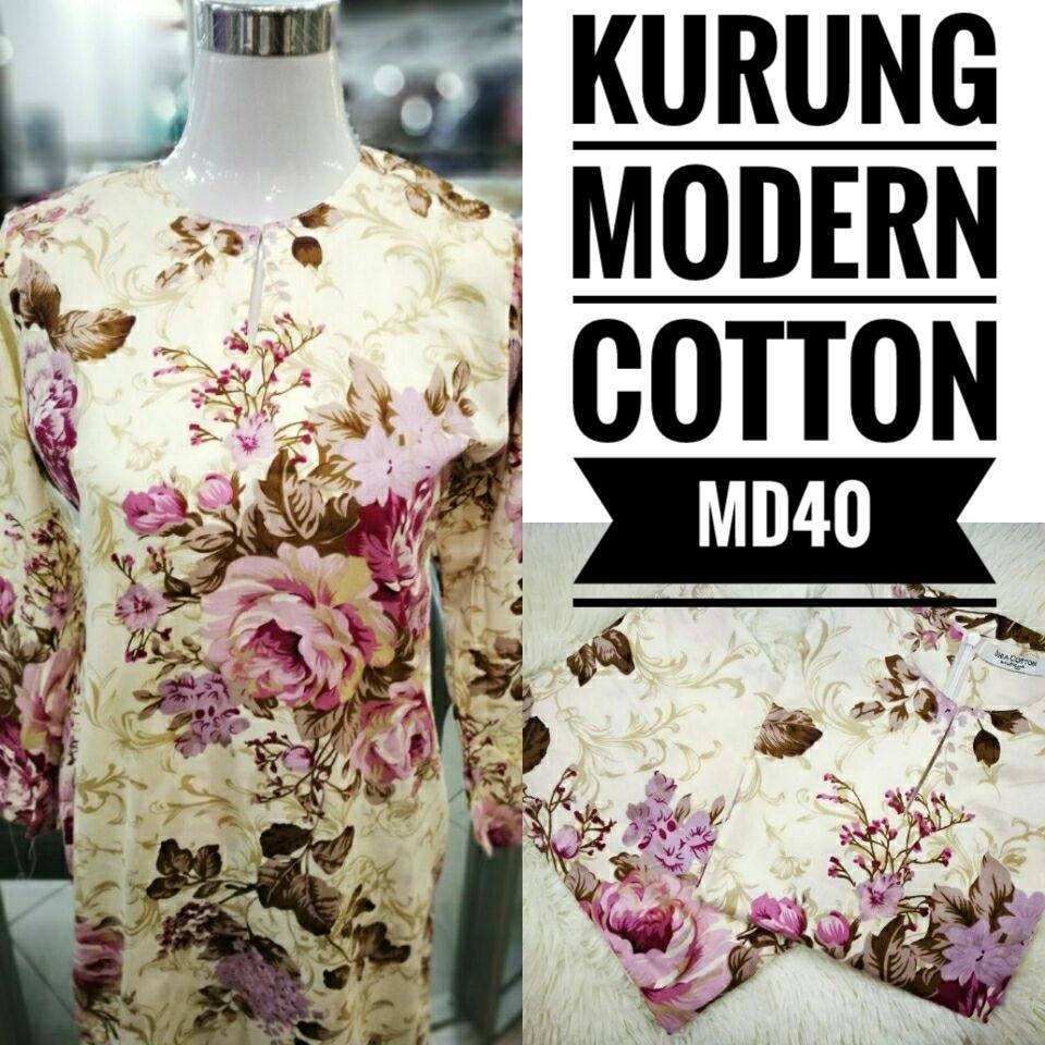 KURUNG MODEN ENGLISH COTTON KOD MD40