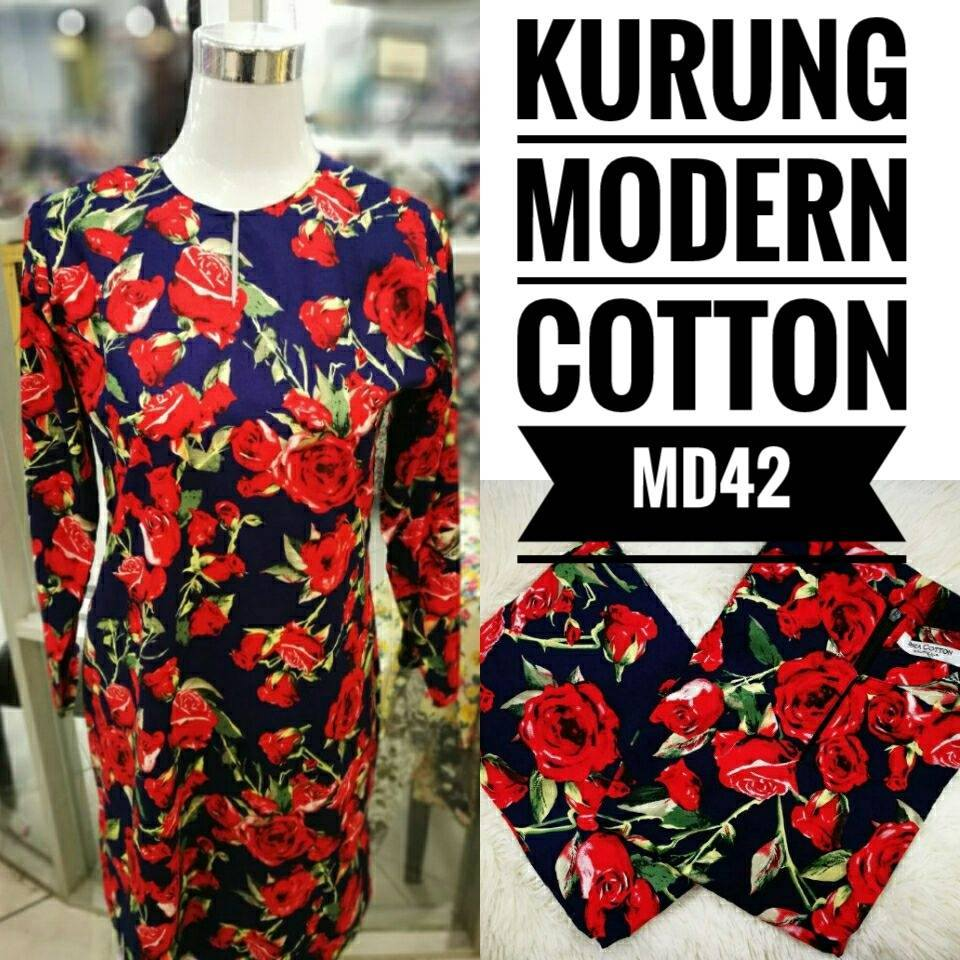 KURUNG MODEN ENGLISH COTTON KOD MD42