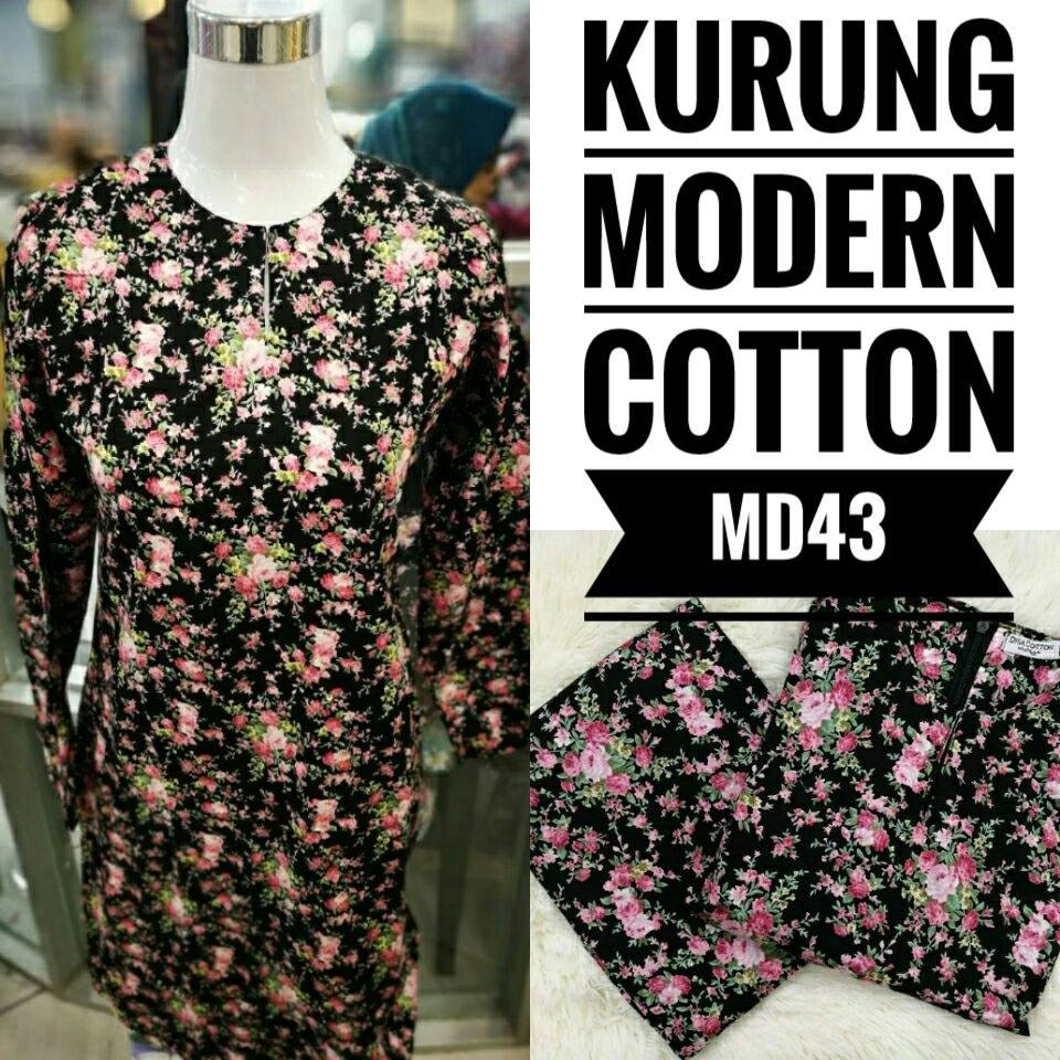 KURUNG MODEN ENGLISH COTTON KOD MD43