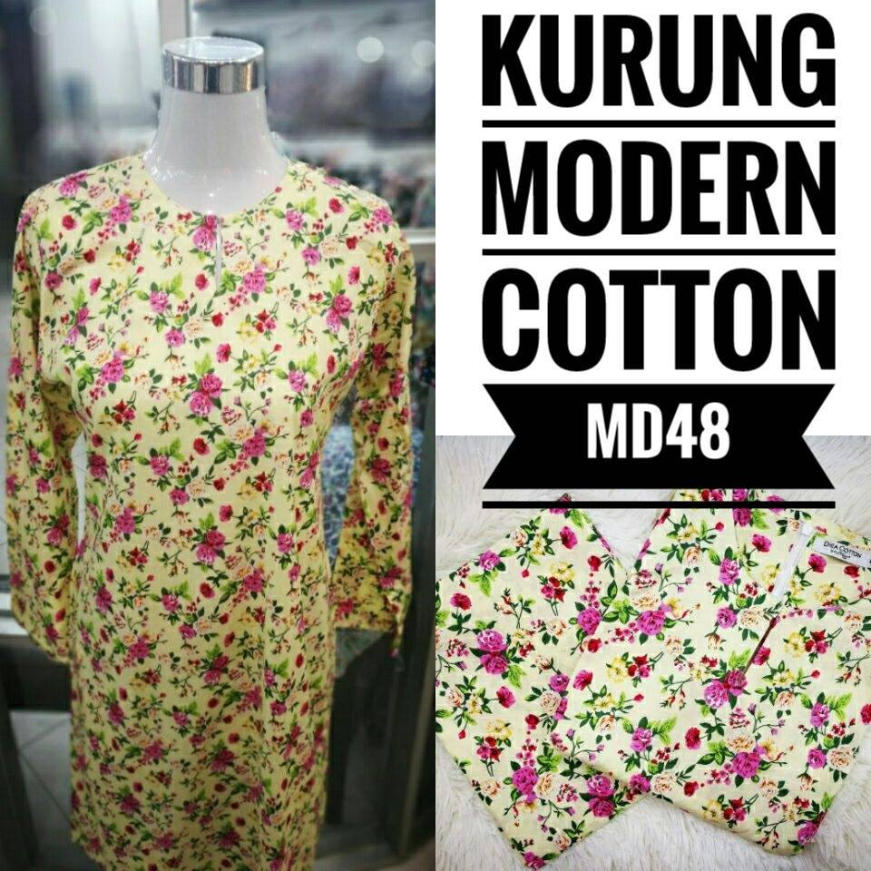 KURUNG MODEN ENGLISH COTTON KOD MD48