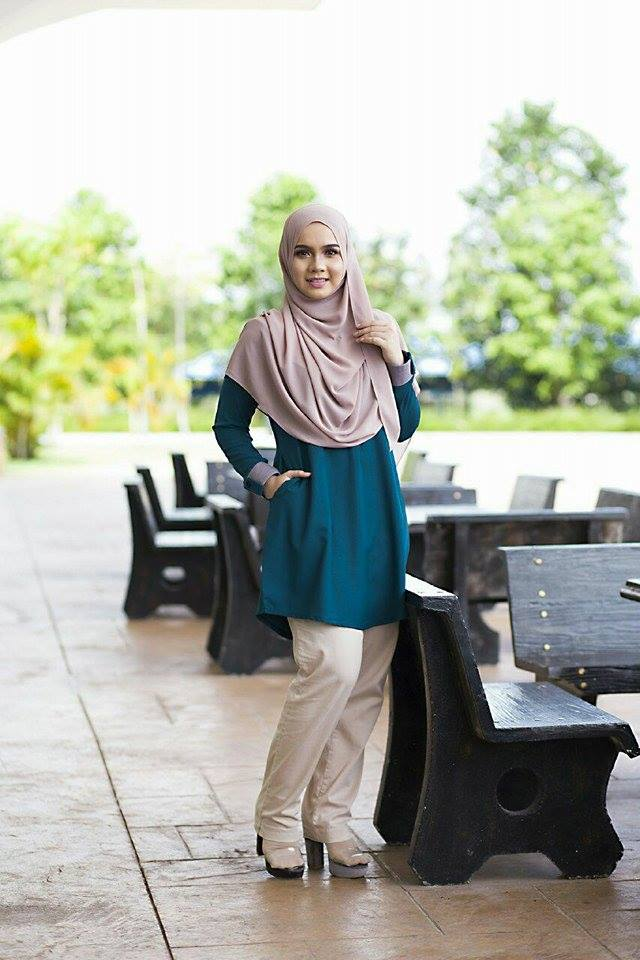 BLOUSE MUSLIMAH ASTER DEEP TURQOISE 2