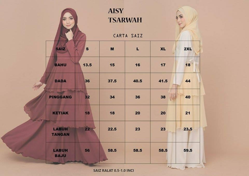 DRESS AISY TSARWAH UKURAN
