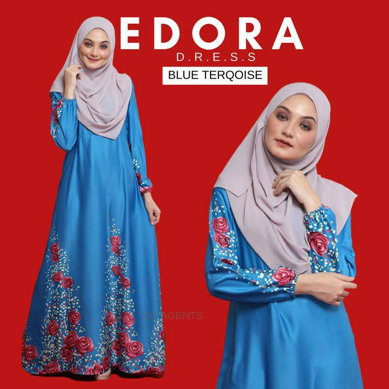 DRESS EDORA BLUE TURKOIS 1