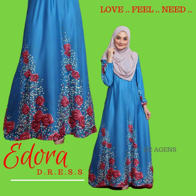 DRESS EDORA BLUE TURKOIS 2
