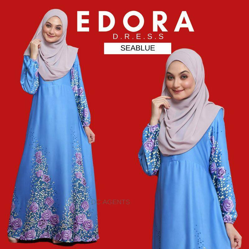 DRESS EDORA SEA BLUE 1