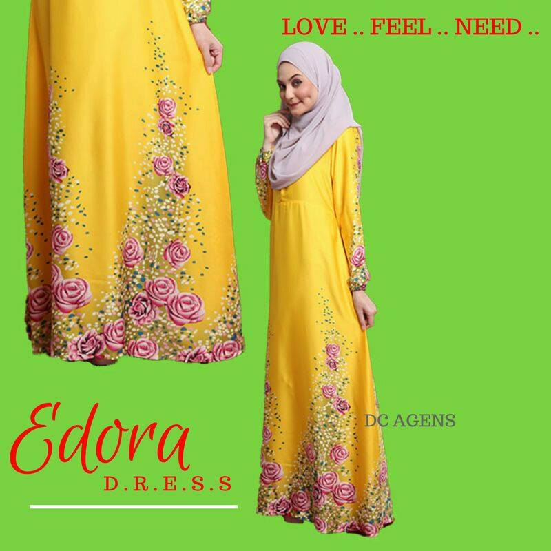 DRESS EDORA YELLOW 2