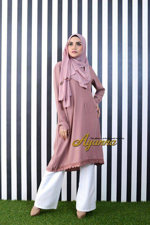 IRENA PLAIN BLOUSE BRICK BROWN 2