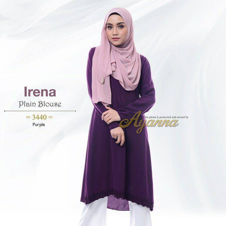 IRENA PLAIN BLOUSE PURPLE 1