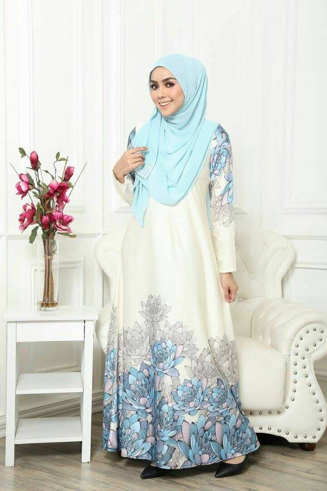 JUBAH ARIANA VOL 2 OFF WHITE 1