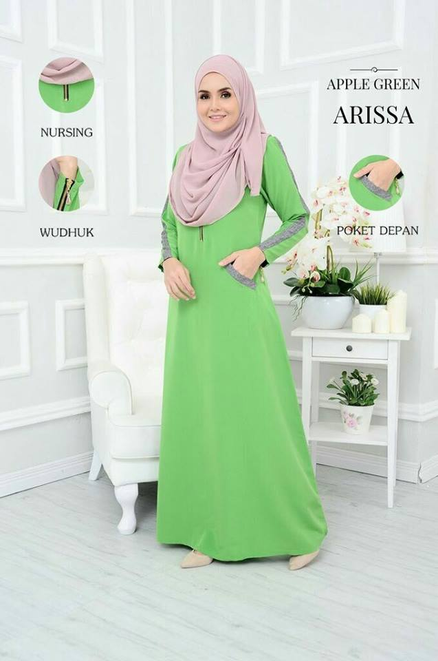 JUBAH ARISSA APPLEGREEN