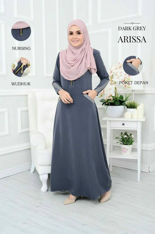 JUBAH ARISSA DARK GREY