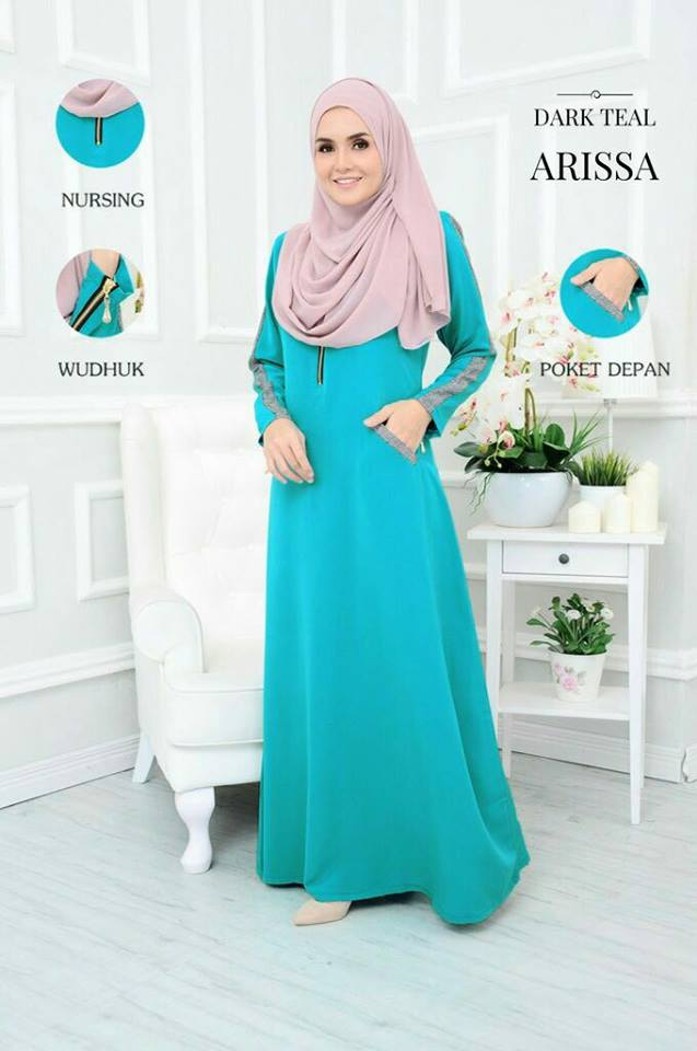 JUBAH ARISSA DARK TEAL