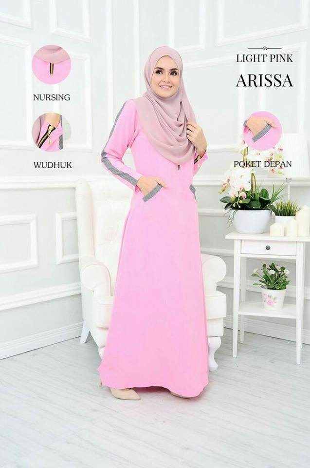 JUBAH ARISSA LIGHT PINK