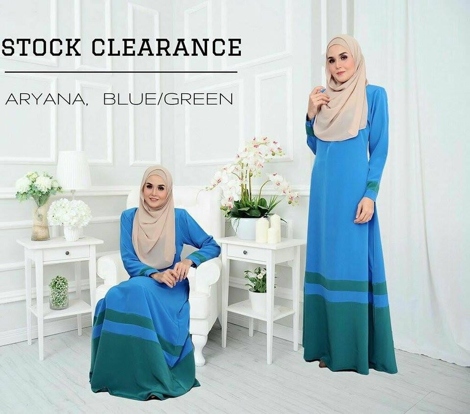 JUBAH ARYANA BLUE GREEN