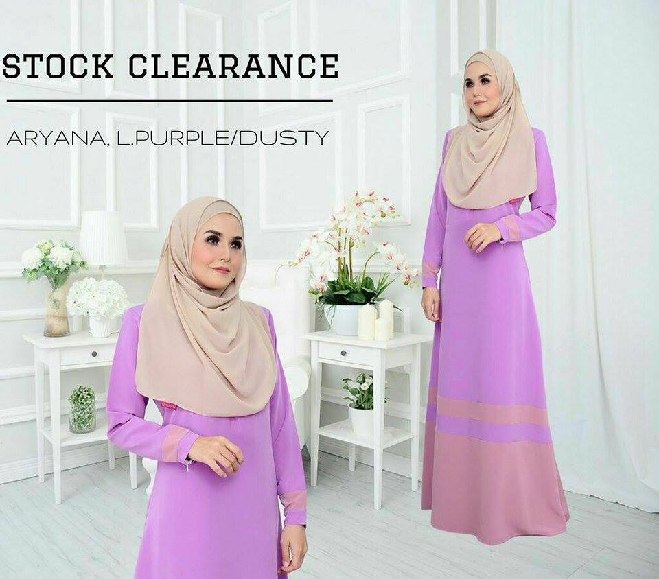 JUBAH ARYANA DUSTY L PURPLE