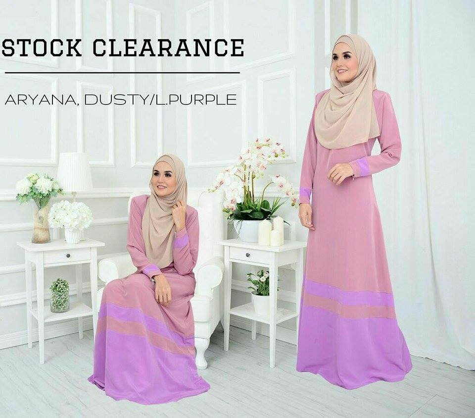 JUBAH ARYANA DUSTY PURPLE