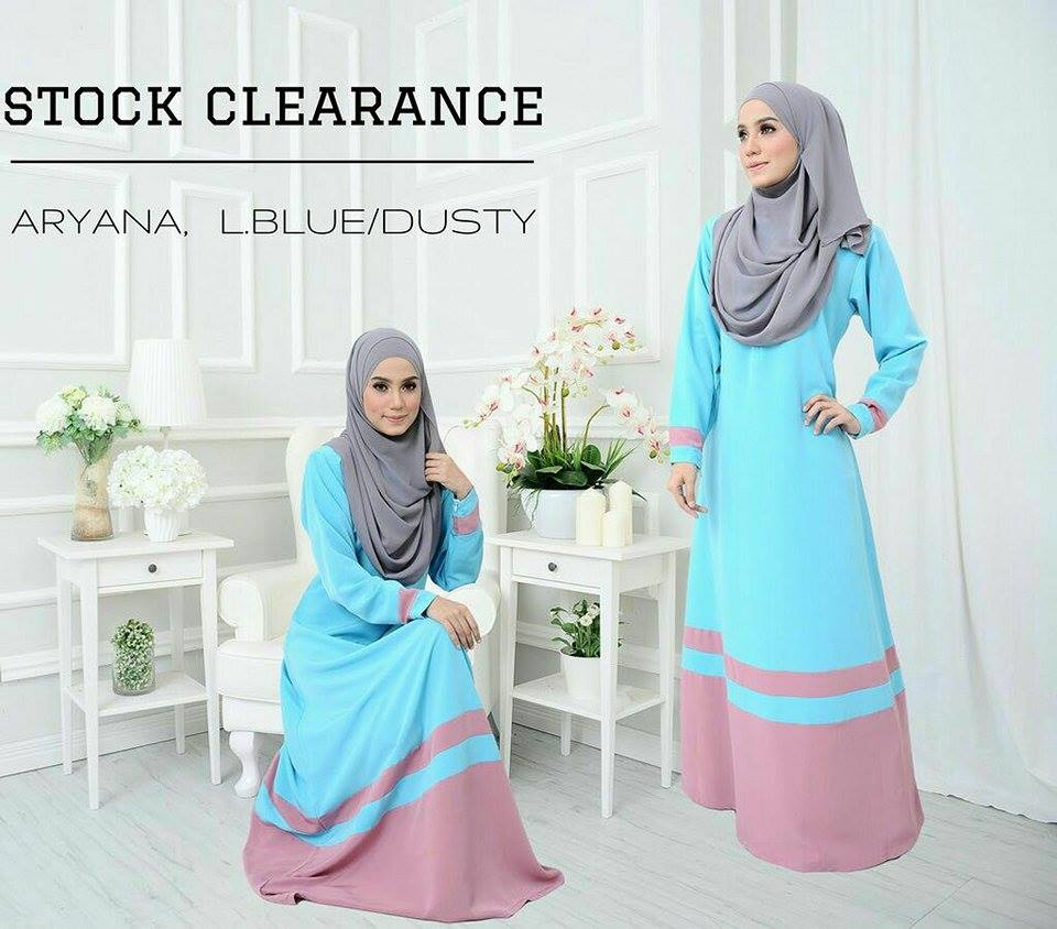 JUBAH ARYANA LIGHT BLUE DUSTY