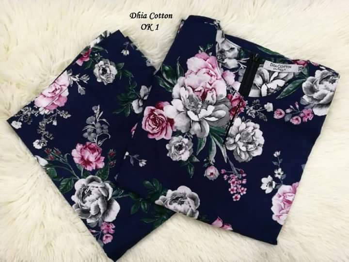 KURUNG MODEN DHIA ENGLISH COTTON OK01