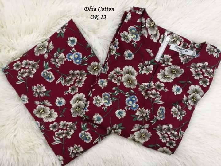 KURUNG MODEN DHIA ENGLISH COTTON OK13