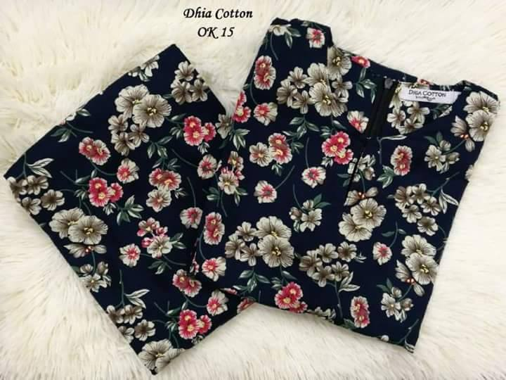 KURUNG MODEN DHIA ENGLISH COTTON OK15