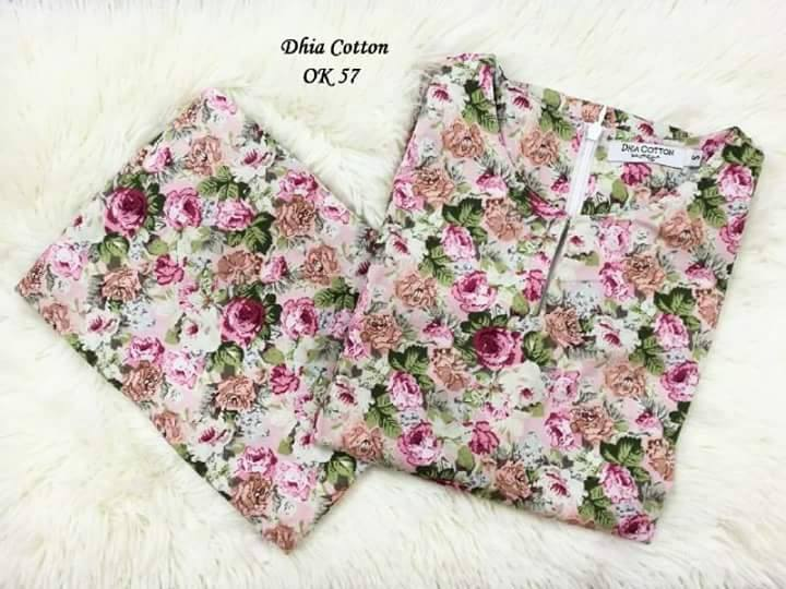 KURUNG MODEN DHIA ENGLISH COTTON OK57