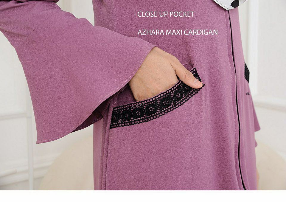 AZHARA MAXI CARDIGAN CLOSE UP 1
