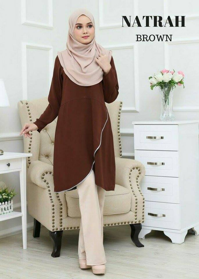 BLOUSE NATRAH BROWN